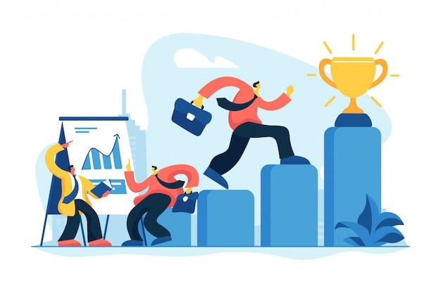 Business coaching concept vector illustration Premium Vector
