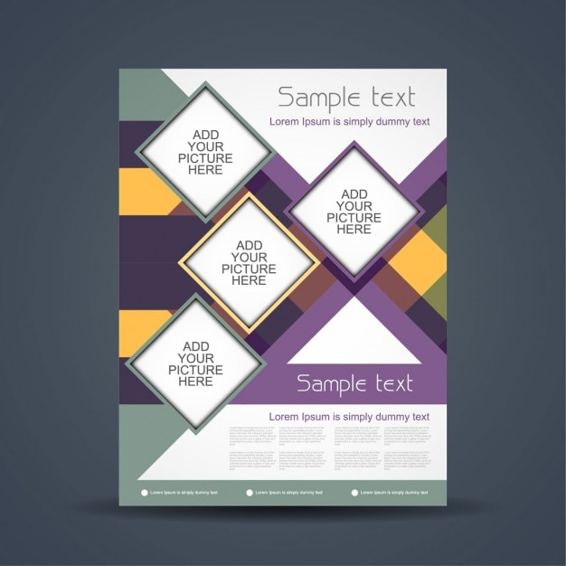 Business Colorful Brochure Design Vector Free Download