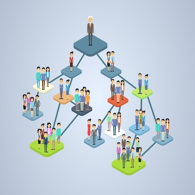 Business company structure management organization chart Premium Vector