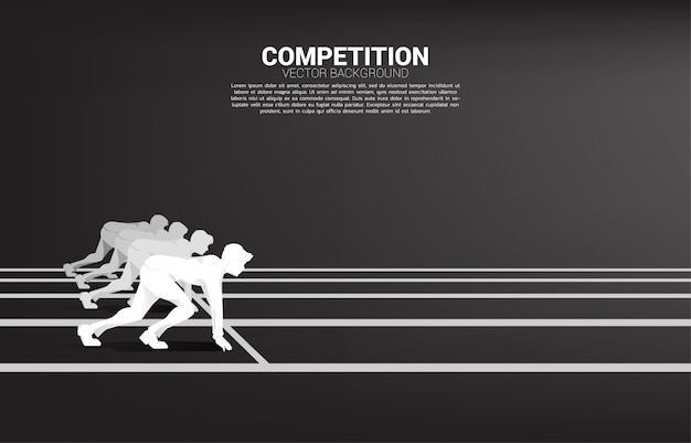 Business competition and challenge template Premium Vector