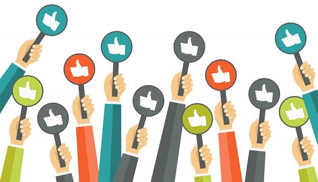 Business compliment concept Premium Vector