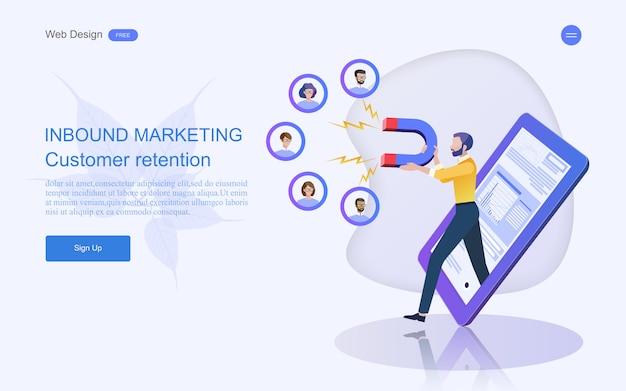Business concept for digital marketing. Premium Vector