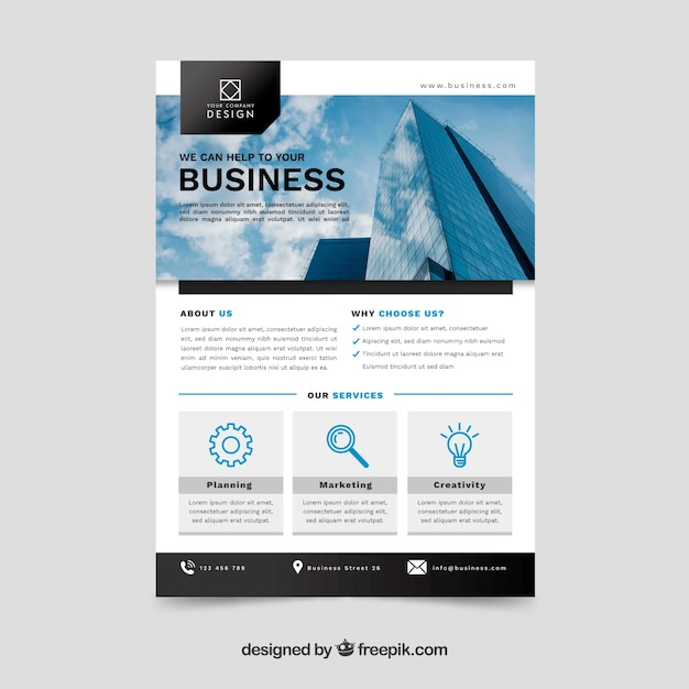 Business concept flyer template vector free download business concept flyer template free vector accmission Images