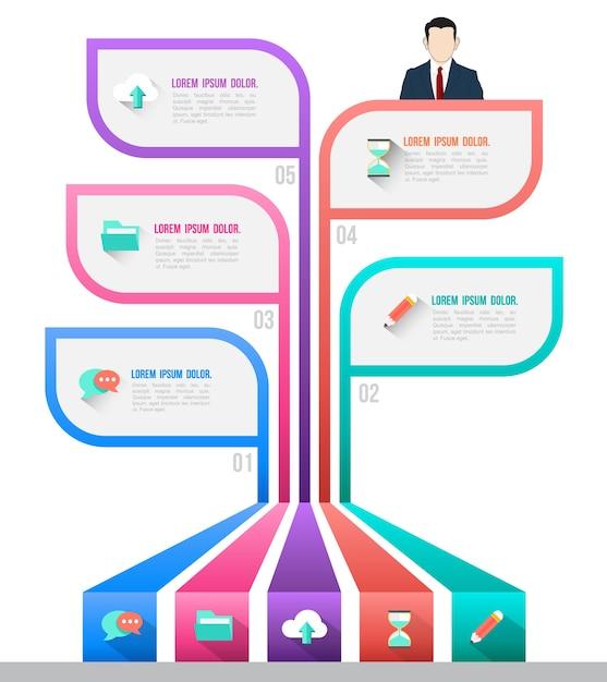 Business concept infographic template Premium Vector