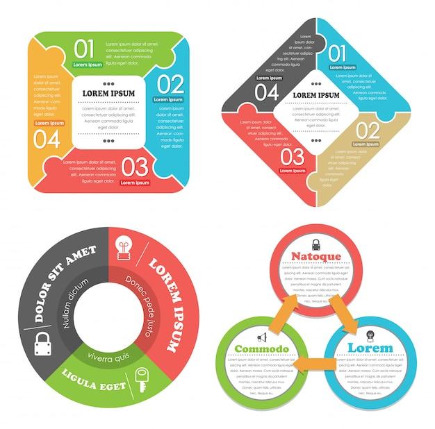 Business concept infographics set Premium Vector