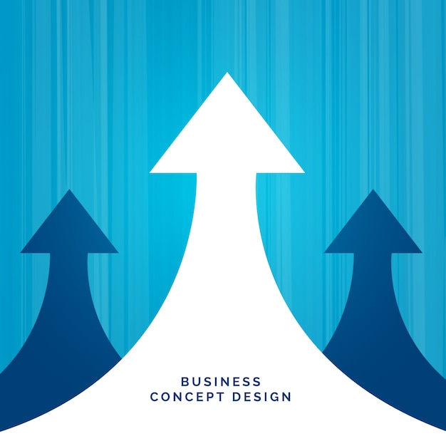 business concept leadership design with arrow Free Vector