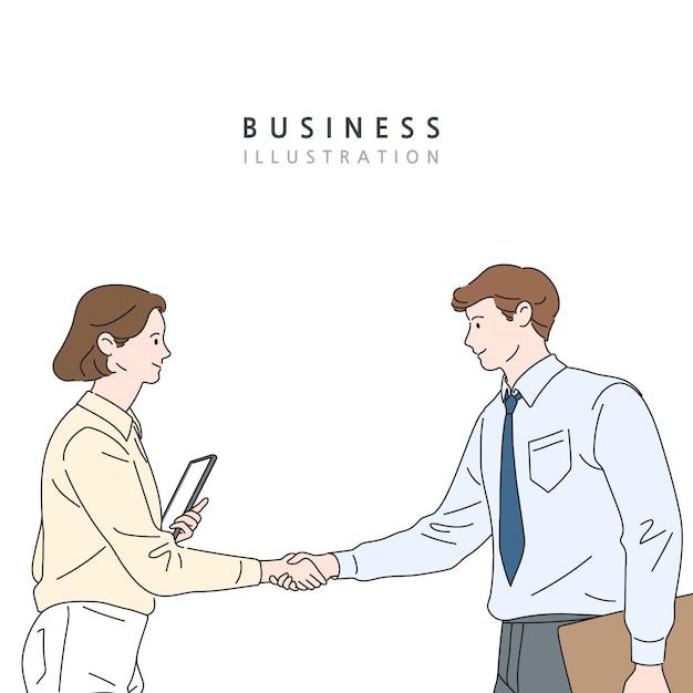ビジネスコンセプト線図 Premiumベクター