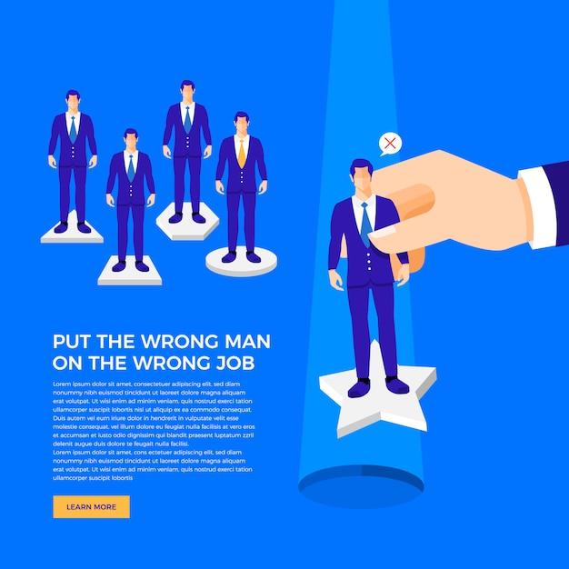 Business concept marketing Premium Vector