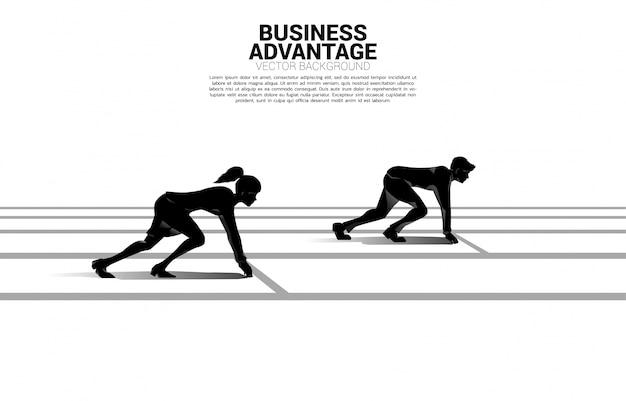 性別競争のビジネスコンセプトです。 Premiumベクター