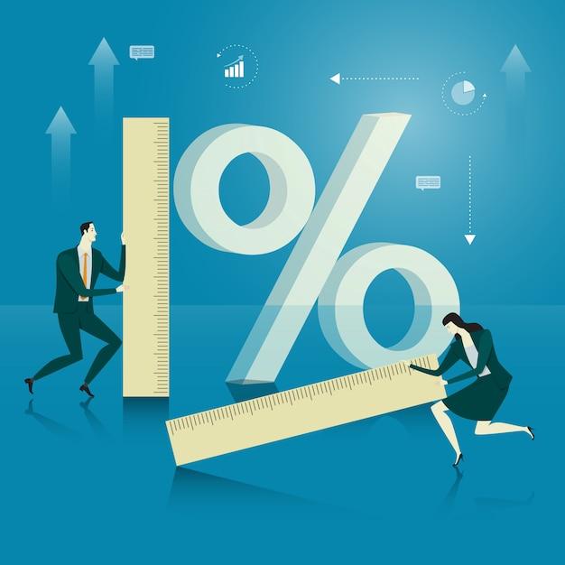 Business concept of success. Premium Vector