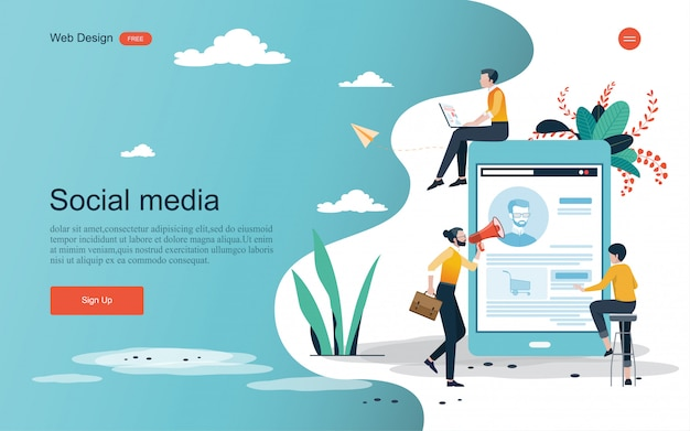 Business concept for teamwork. background template Premium Vector