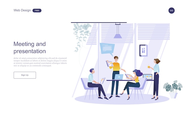 Business concept for teamwork. Premium Vector