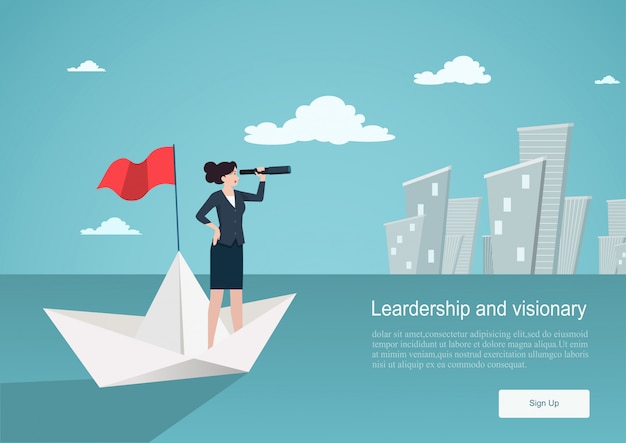 Business concept of vision. background template Premium Vector