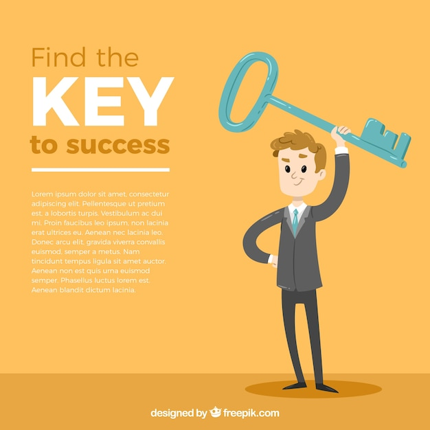 Business concept with key to success Free Vector