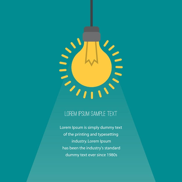 Business concept with light bulbs as symbol of idea. Premium Vector
