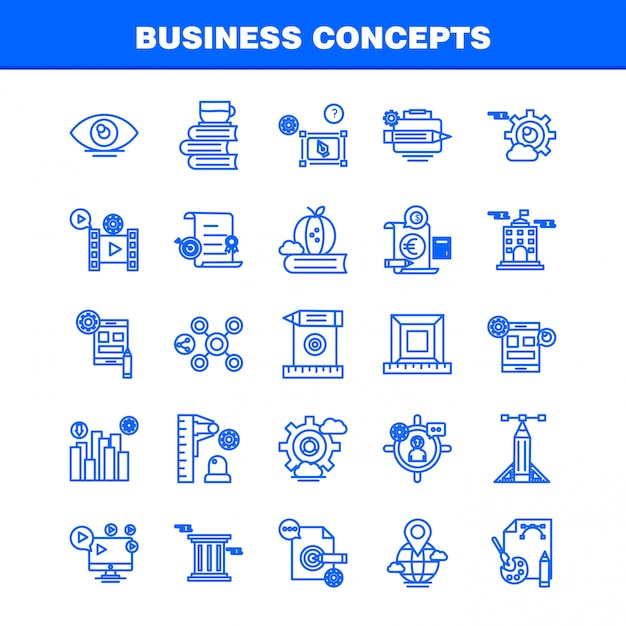 Business concepts line icon Premium Vector