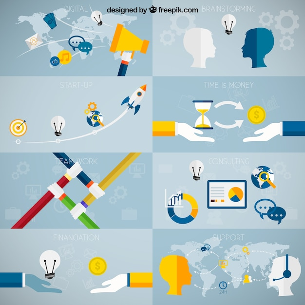 Business concepts Free Vector