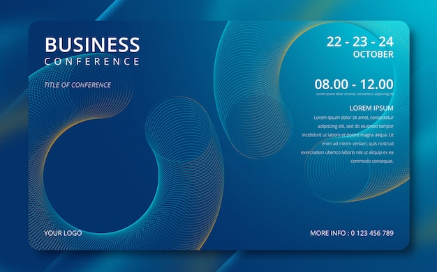 Business conference simple template invitation. Premium Vector