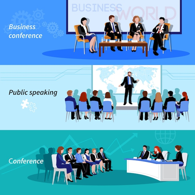 Business conference Free Vector