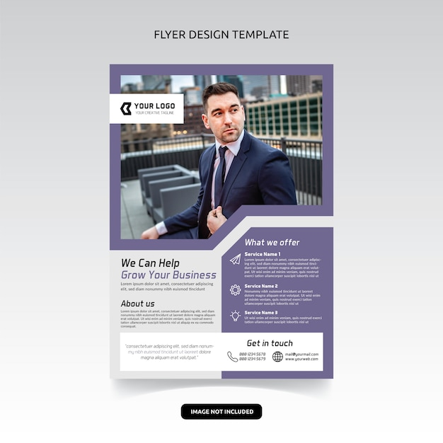 Business consultant digital marketing agency flyer poster ...