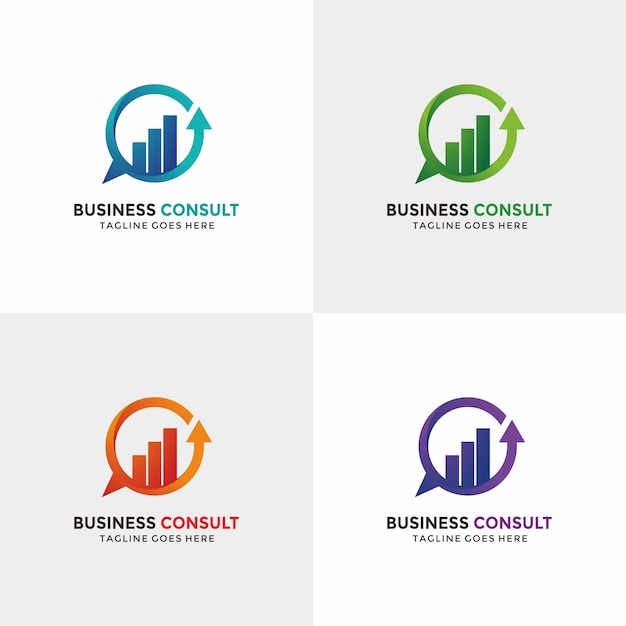 Business consulting logo with option color vector for Consulting logo