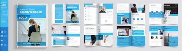 Business or corporate brochure template Premium Vector
