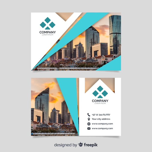 Business corporate card template Free Vector