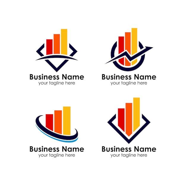Business corporate finance logo design template Premium Vector