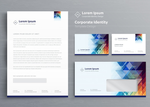 Business corporate identity template design Premium Vector