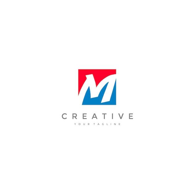 Business corporate m logo Premium Vector