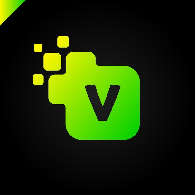 Business Corporate Square Letter V Font Logo Design Vector Premium