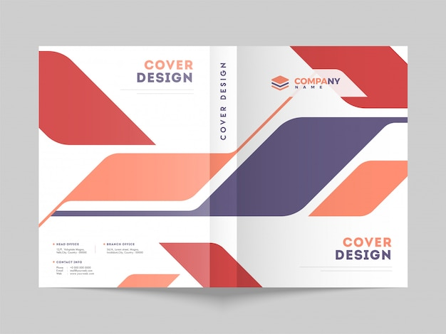 Business cover page layout for corporate sector. Premium Vector