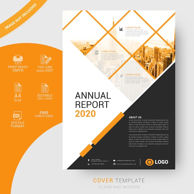 Business cover template in a4 Premium Vector