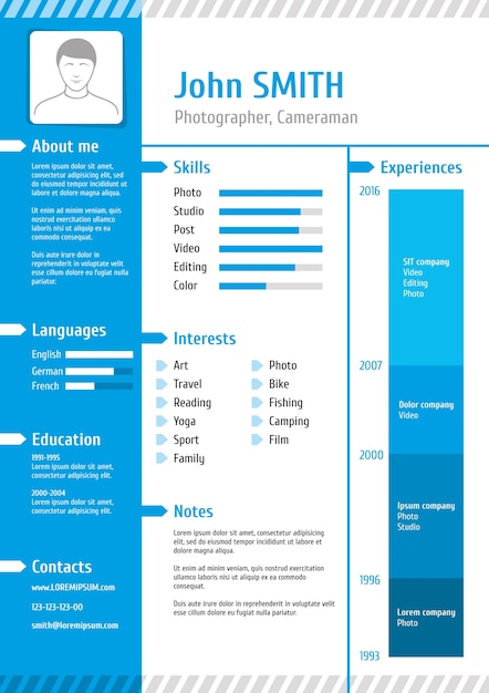 Business Curriculum Vitae And Resume Vector Template Vector