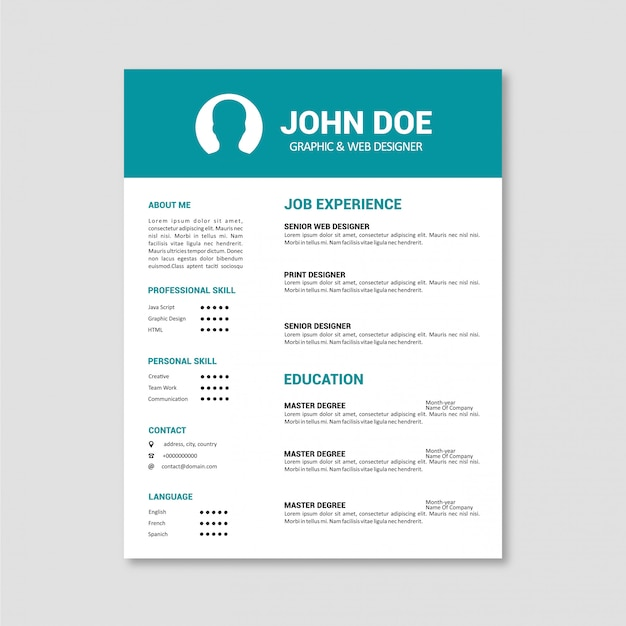 Business cv template vector premium download business cv template premium vector wajeb Choice Image