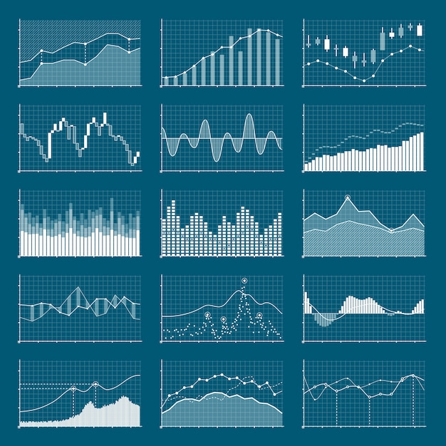 Business data financial chart Premium Vector