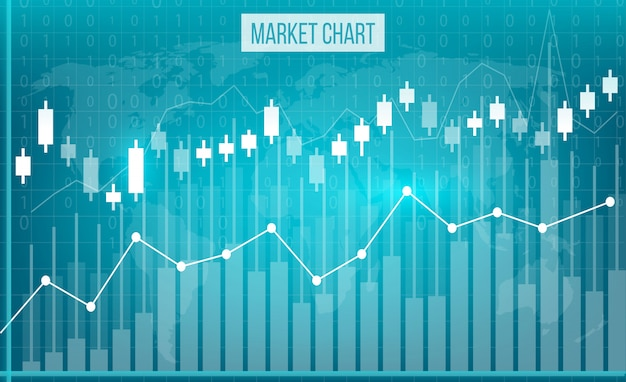 Business data financial charts Premium Vector