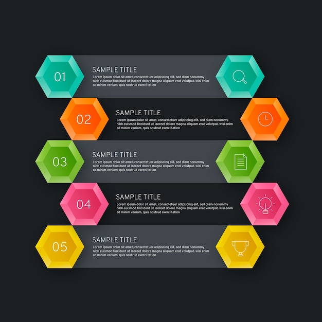 Business data visualisation of timeline infographic Free Vector