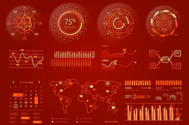 Элемент визуализации бизнес-данных Premium векторы