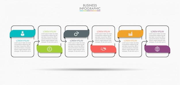 Business data visualization Premium Vector