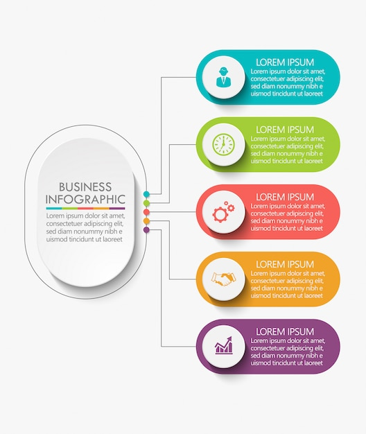 Business data visualization Premium Vector