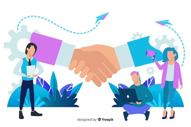 Business deal concept background Free Vector