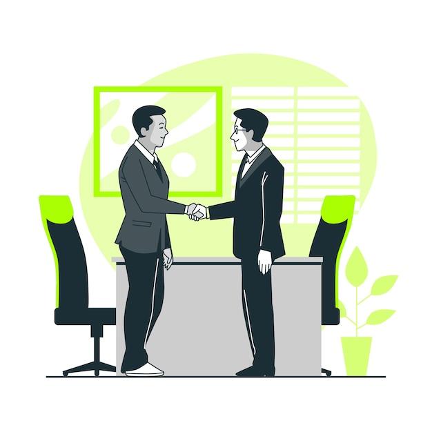 ビジネス取引の概念図 無料ベクター