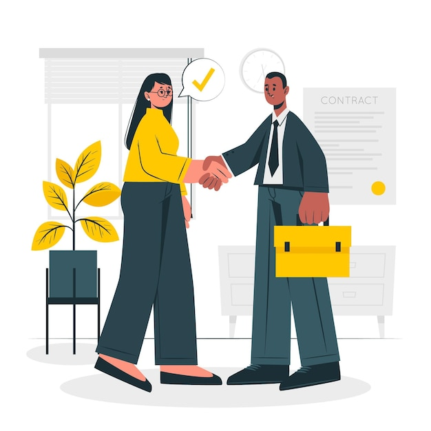 Business deal concept illustration Free Vector