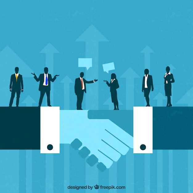 Business deal concept Premium Vector