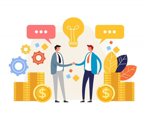 Business deal Premium Vector