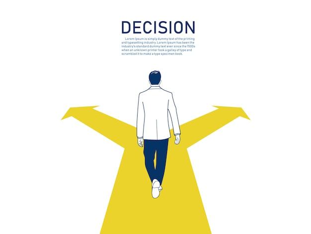 ビジネス決定の概念 Premiumベクター