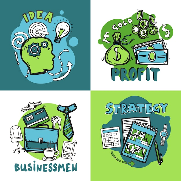 Business design concept Free Vector
