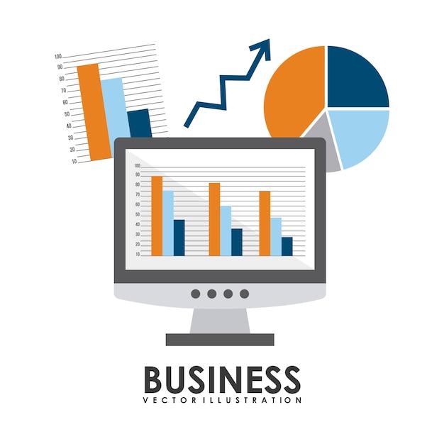 Business design over white background vector illustration Premium Vector