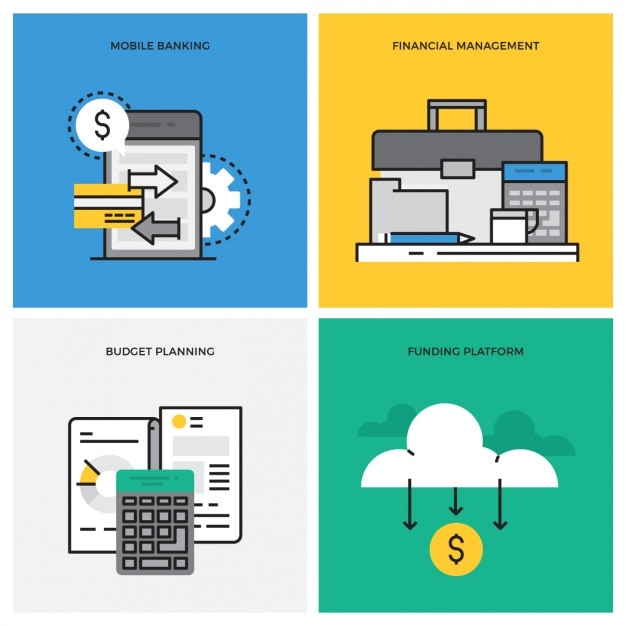 Business designs collection Free Vector